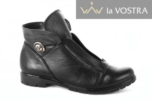 Ботинки женские Днепр 2176 (зимние, черный, кожа)