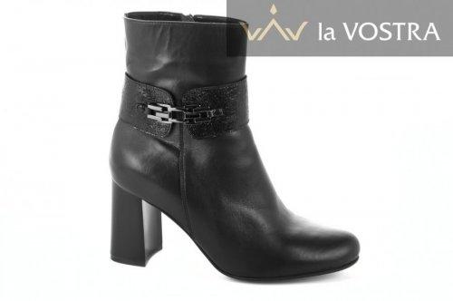Ботинки женские Днепр 2724 (весенне-осенние, черный, кожа)