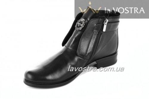 Ботинки женские Sezar 2101 (зимние, антрацит, кожа)