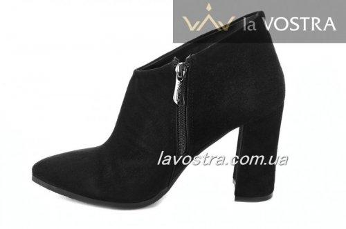 Ботинки женские Nivelie 2685 (весенне-осенние, черный-метис, кожа)