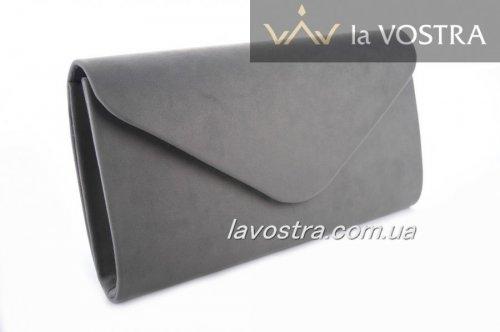Клач женский Miss moda 6535 (темно-серый, эко-замш)