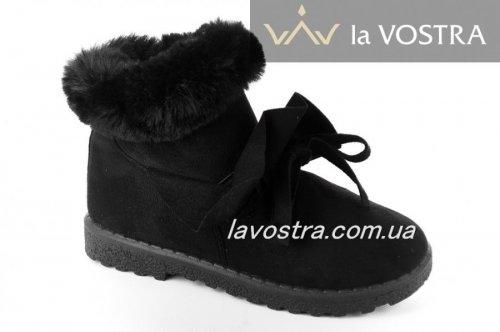 Ботинки женские Basida 2839 (зимние, черный)