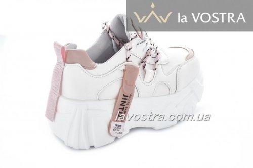 Кросівки жіночі 7093 (весна-літо-осінь, рожевий, еко-шкіра)
