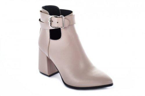 Ботинки женские Nivelie 7085 (весенне-осенние, пиано, кожа)