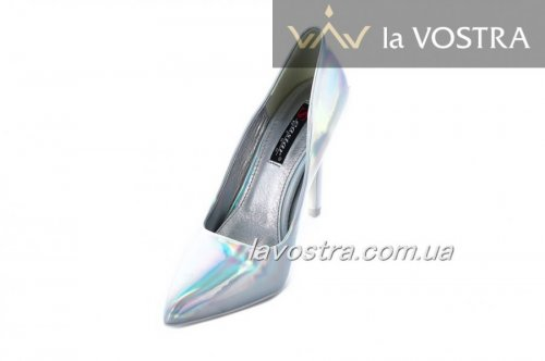 Туфлі жіночі Seastar 6921 (весняно-осінні, срібло, еко-лак)