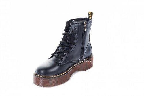 Ботинки женские Seastar 7047 (весенне-осенние, черный, эко-кожа)