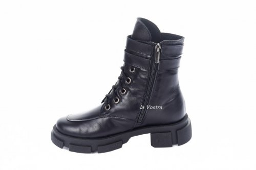Ботинки женские Ladi 7433 (зимние, черный, кожа)