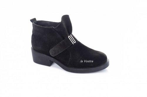Ботинки женские Укр н 2780 (зимние, черный, замш)