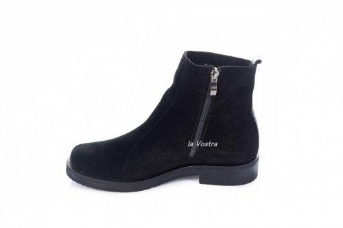 Ботинки женские Sezar 2116 (весенне-осенние, черный, замш)