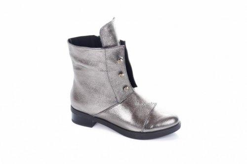 Ботинки женские Днепр 2878 (весенне-осенние, серебро)