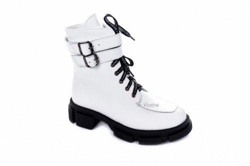 Ботинки женские Ladi 7456 (зимние, белый, кожа)