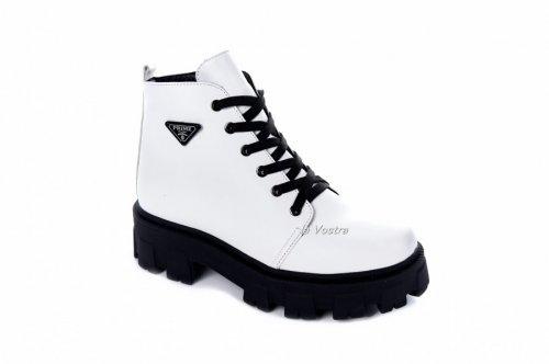 Ботинки женские Maria Sonet 7462 (зимние, белый, кожа)