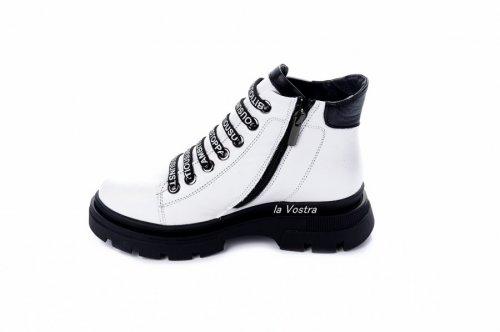 Ботинки женские Maria Sonet 6908 (зимние, белый, кожа)