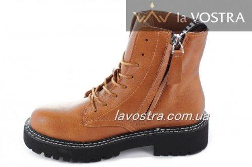 Ботинки женские Seastar 6994 (весенне-осенние, рыжий, эко-кожа)