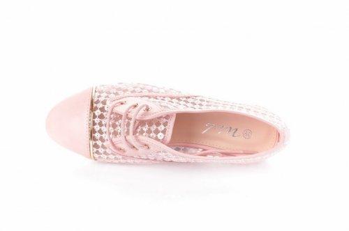 Мокасины женские A.A 811 (летние, розовый)