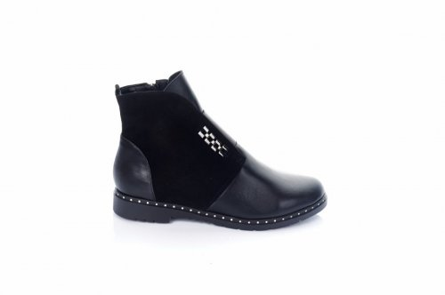 Ботинки женские Elvix 7492 (зимние, черный, кожа)