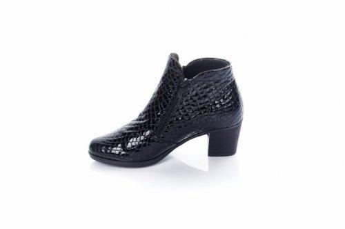 Ботинки женские  513 (весенне-осенние, черный, эко-кожа)