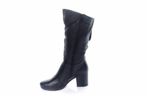 Ботинки женские Св кор (зимние, черные, кожа)