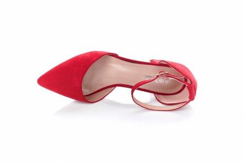 Туфли женские Weide Y220 (весенне-осенние, красный, эко-замш)