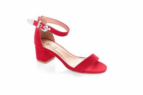 Босоножки женские YES-5569 (летние, красный)