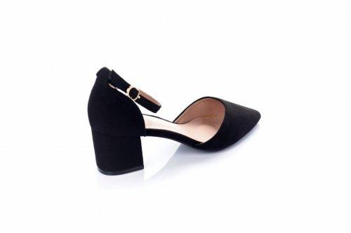 Туфли женские Weide Y220 (весенне-осенние, черный, эко-замш)