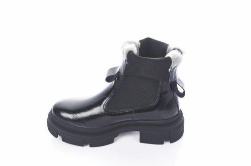 Ботинки женские Maria Sonet 7432 (зимние, черный, лак)