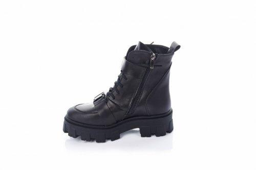 Ботинки женские Maria Sonet 7446 (зимние, черный, кожа)