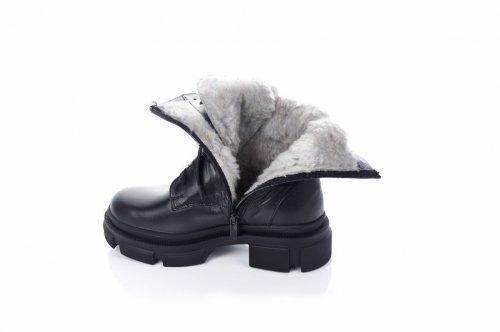 Сапоги женские Ladi 7444 (зимние, черный, кожа)