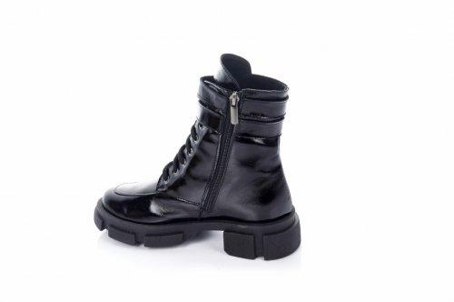 Ботинки женские Ladi 7436 (зимние, черный, лак)