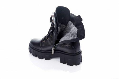 Ботинки женские Ladi 7434 (зимние, черный, кожа)