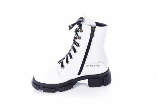 Ботинки женские Ladi 7429 (зимние, белый, кожа)