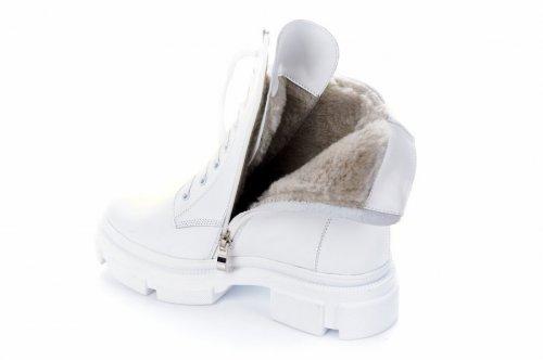 Ботинки женские Maria Sonet 7445 (зимние, белый, кожа)