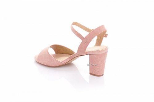 Босоножки женские S.S 7867 (лето, розовый, эко-замш)