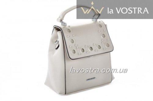 Рюкзак-сумка женский Velina Fabbiano 6974 (бежевый, эко-кожа)