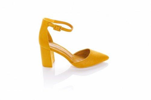 Босоножки женские Seastar 5992 (лето, желтый, эко-замш)