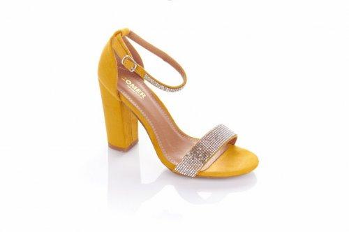 Босоножки женские Seastar 5928 (весна-лето-осень, желтый, эко-замш)
