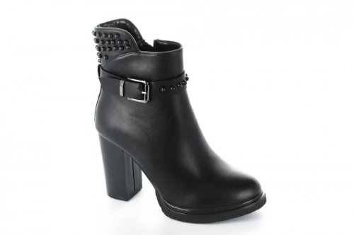 Ботинки женские YzY 5522 (весенне-осенние, черный, эко-кожа)