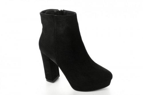 Ботинки женские Seastar 6706 (весенне-осенние, черный, эко-замш)