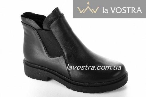 Ботинки женские Sezar 2202 (зимние, черный, кожа)