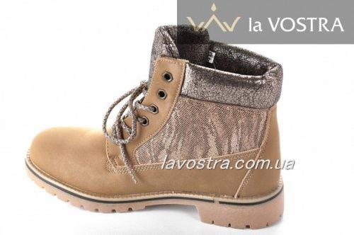 Ботинки женские A.A 2744 (зимние, кемел, эко-кожа)