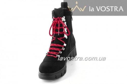 Ботинки женские Yes mile 6815 (зимние, черный, эко-замш)