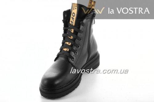 Ботинки женские Днепр 6811 (зимние, черный, кожа)