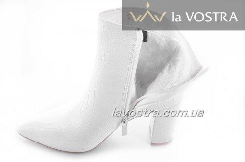 Ботинки женские Weide 6816 (зимние, белый, эко-кожа)