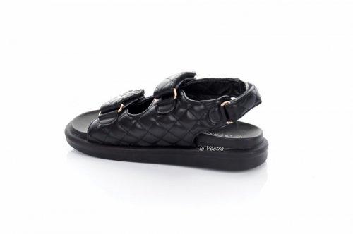 Босоножки женские Seastar 7912 (лето, черный, эко-кожа)