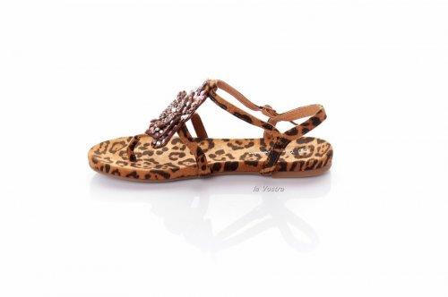 Босоножки женские Comer 7970 (лето, леопард, эко-замш)