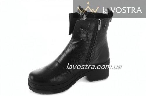 Ботинки женские Haidra 2132 (зимние, черный, кожа)