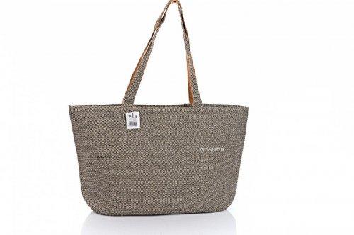 Сумка пляжна жіноча D & Bags 7835 (сірий, текстиль)
