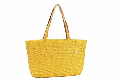 Сумка пляжна жіноча D & Bags 7836 (жовтий, текстиль)