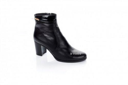 Ботинки женские Днепр 2693 (весенне-осенние, черный, кожа)