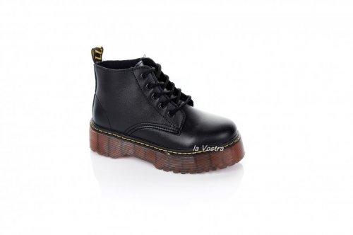 Ботинки женские Seastar 6998 (весенне-осенние, черный, эко-кожа)